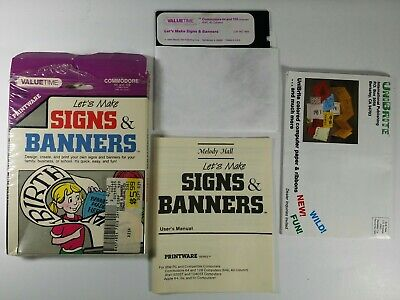£14.52 • Buy Let's Make Signs & Banners Commodore 64/128  5.25  Complete Vintage Software