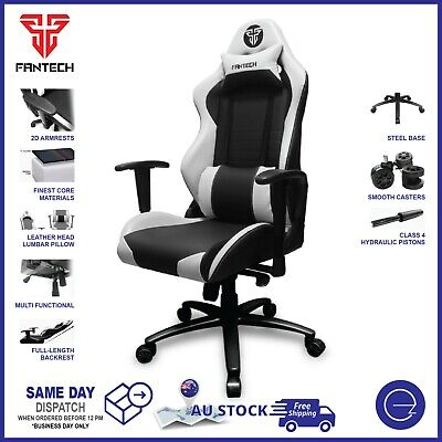 AU279 • Buy Fantech Gaming Office Chair PU Leather 2D Armrest Recline Ergonomic GC-182 White