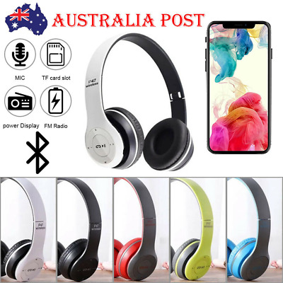 AU14.99 • Buy Noise Cancelling Wireless Headphones Bluetooth 4.2 Earphone Headset With Mic