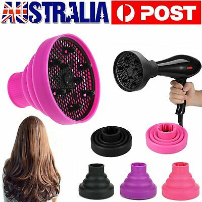 AU15.90 • Buy Universal Silicone Blower Hairdressing Salon Curly Hair Dryer Diffuser Foldable