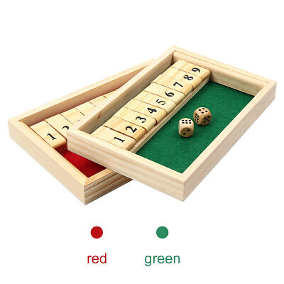 £6.59 • Buy 2 Players Shut The Box Wooden Traditional Pub Dice Family Kids Childrens Game