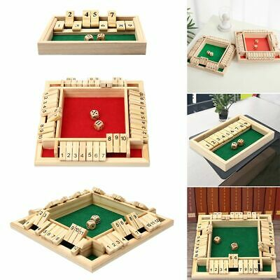 £10.99 • Buy 2- 4 Players Shut The Box Dice Game Tabletop Family Wooden Games Learn Number