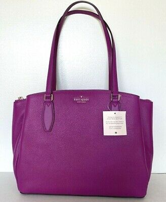$ CDN201.72 • Buy New Kate Spade Monet Large Triple Compartment Tote Leather Baja Rose