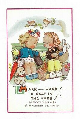 Mabel Lucie Atwell, 5839. Hark-A Seat In The Park. French Version. • 8£