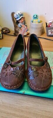£15 • Buy Ladies Moshulu Brown Leather Upper Floral Detail Shoes Size 5 / 38