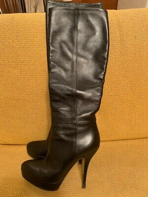 Gucci Leather Black Women Shiws Boots 37 7 • 200.01£