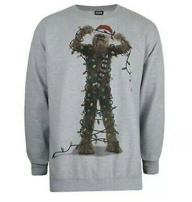 $22.88 • Buy Star Wars Mens Christmas Jumper - Chewbacca Lights - Size Small