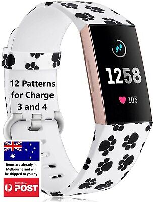 AU8.95 • Buy Patterned Replacement Band -  Charge 3 4 Silicone Watch Wrist Sports Strap