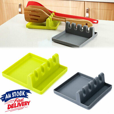AU10.79 • Buy Spoon Rest Silicone Kitchen Holder Heat Resistant Utensil Cooking Tool Colorful