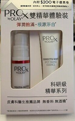 AU21.35 • Buy OLAY PROX Youth-Activ 3D Youth Essence 5ml + Spot Fading Essence 7ml Trial Kit