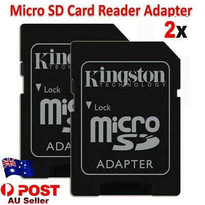 AU4.49 • Buy 2X Micro SD To SD Memory Card Reader Adapter For Kingston Support Up To 200GB
