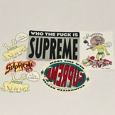 $ CDN18.73 • Buy Supreme Stickers 6 Designs Pack 100% Authentic