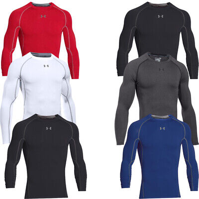 Under Armour Mens Heatgear Compression Long Sleeve Shirt Winter Baselayer Top  • 24.98£