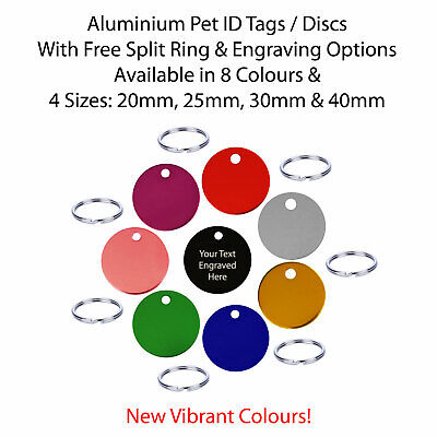 Pet ID / Dog Tags / Identity Discs & Split Ring - Engraved / Engraving Options • 2.54£