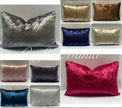 Luxury Crushed Velvet Bolster PillowCases Pregnancy Maternity Body Support Cover • 13.99£