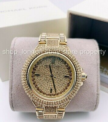 $ CDN166.71 • Buy Michael Kors MK5720 Camille Crystal Pave Gold Tone Ladies Wrist Watch USShipping
