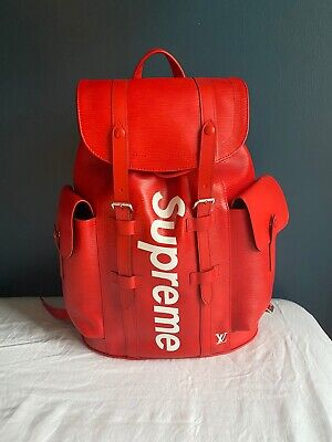 $ CDN21931.01 • Buy Louis Vuitton X Supreme Christopher Backpack Epi Leather Red