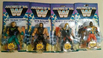 $106.05 • Buy WWE Masters Of The Universe Wave 4 Complete Set Of 4 Jake, Mr.T, Seth & Bray