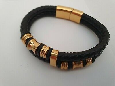 Men's Bracelet ANA Collection  Fashion Jewelry Double Gold • 11.27£