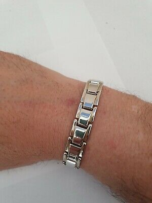 Men's Bracelet ANA Collection  Fashion Jewelry Classic Silver • 5.62£