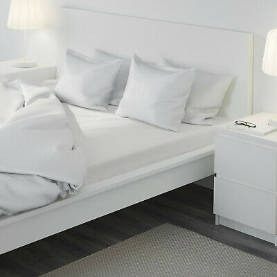 £13.89 • Buy Ikea White Double Fitted Sheet 100% Cotton New Dvala Free Postage