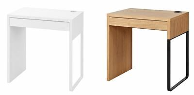 IKEA NEW MICKE Desk, White And Oak 73x50 Cm • 54.99£