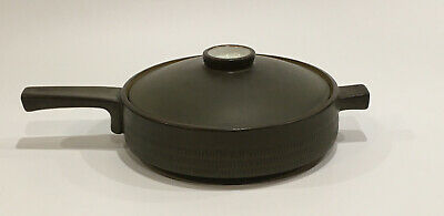 Denby Chevron 2 PINT - One Handled Casserole Dish & Lid - Very Good Condition  • 12£