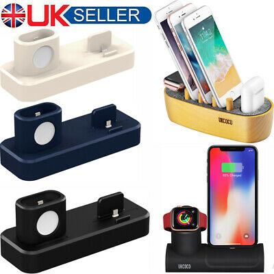 Charging Stand Mount Cradle Station Dock For Apple Watch & IPhone X 6 7 8 Ipad • 9.35£