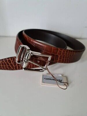 £45 • Buy ANDERSON'S Leather Patterened Belt Brown  38UK / 95EU New With Tag