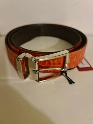 £45 • Buy ANDERSON'S Leather Patterened Belt 40UK / 100EU New With Tag Made In Italy
