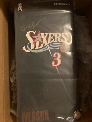 $895 • Buy ALLEN IVERSON Enterbay Figurine Masterpiece Brand New AUTOGRAPH UD COA Signed