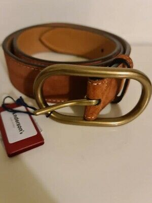 £55 • Buy ANDERSON'S Suede Leather Belt Brown 34UK / 85EU New With Tag Made In Italy