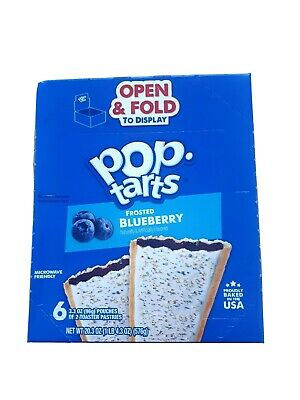 Kellogg's Pop Tarts Frosted Blueberries Box 576 G (6 Twin Packs - 96 G Each) • 2.95£