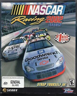AU20 • Buy NASCAR Racing 2002 Season (PC Game) 2001 Original Big Box