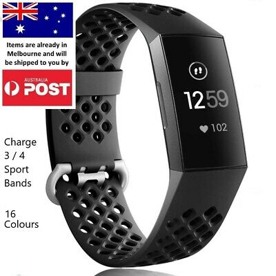 AU8.95 • Buy Sports Replacement Band - Charge 3 4 Silicone Watch Wrist Strap