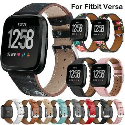 $ CDN11.16 • Buy For Fitbit Versa 3/2/1 Lite Replacement Leather Wristband Bracelet Band Strap