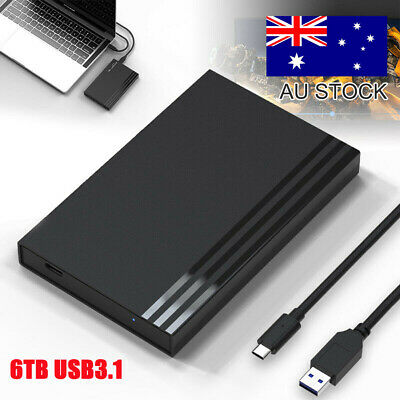 AU18.99 • Buy AU 6TB USB3.1 Gen2 Portable External HDD Case Ultra Slim For Xbox One PS4 Mac