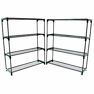 NEW Double Pack Flower Staging Display Greenhouse Racking Shelving • 29.99£