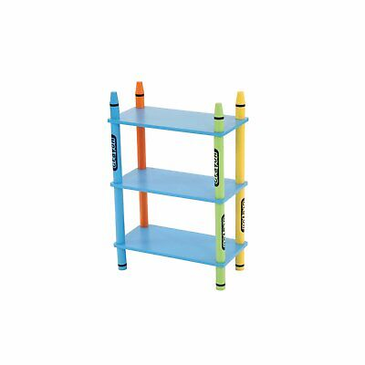 £19.99 • Buy NEW! Colourful Childrens Storage Shelf Crayon 3-Tier Free Standing Shelving Unit