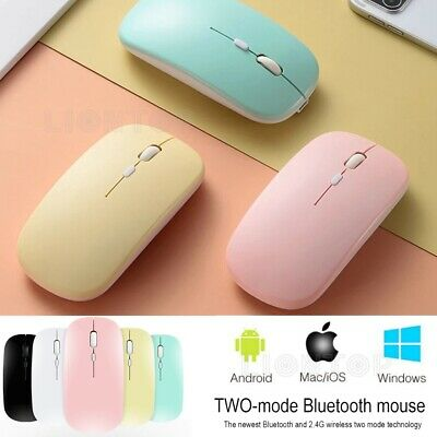 AU19.99 • Buy Wireless Bluetooth 5.1 Dual-Mode Slim Rechargeable Mouse For Laptop, Mac. IPad