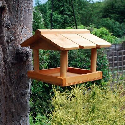 £12.99 • Buy Hanging Wooden Bird Table Station Traditional Feeding Garden Bird Care New