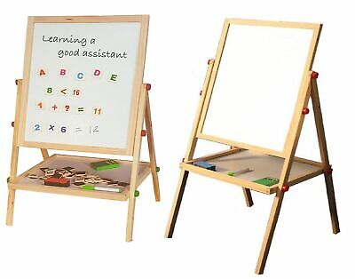 £15.99 • Buy Childrens Black Board & Magnetic White Board Double Sided Wooden Easel (100cm) R