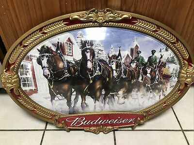 "$ CDN60.46 • Buy Anheuser Busch Budweiser Clydesdale Horse Team Bubble Sign Wall Display 20""x 30"""