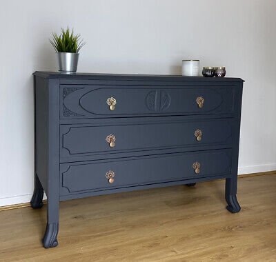 Chest Of Drawers - Vintage, Storage, Hand-Painted, Upcycled • 399£