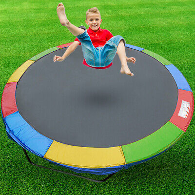 AU50.90 • Buy 8 FT Kids Trampoline Pad Replacement Mat Reinforced Outdoor Round Spring Cover
