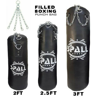 AU58.01 • Buy 3ft, 2.5ft, 2ft Filled Heavy Kick Boxing Punch Bag Hanging Training MMA Bags