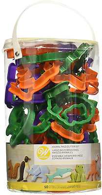 Wilton Animal Cookie Cutter Set 50-Piece Fish Dog Cat Butterfly Reptile Shape • 9.36£