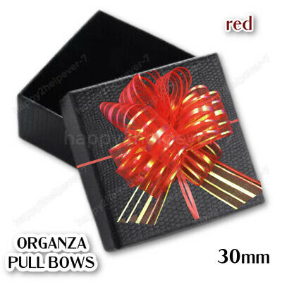 £3.49 • Buy 50X30mm RED ORGANZA PULL BOWS MERRY CHRISTMAS GIFT WRAP RIBBON PARTY GIFT DECOR