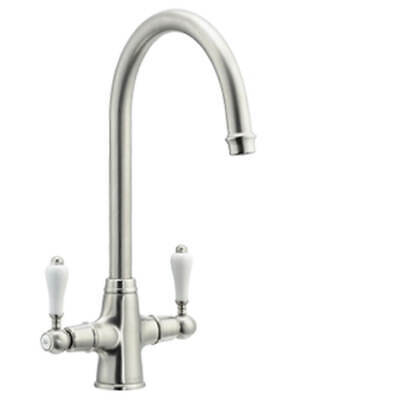 Astracast Colonial Twin Lever Kitchen Sink Mixer Tap Brushed TP1024 • 85£
