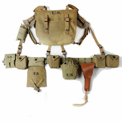 $209.99 • Buy WWII US Carbine Pouch M1936 Bag Belt Suspenders Canteen Shovel Cover 1911 Pack